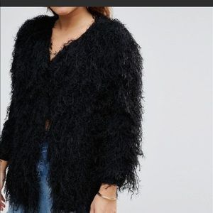 Raga Almost Famous black shaggy cardigan